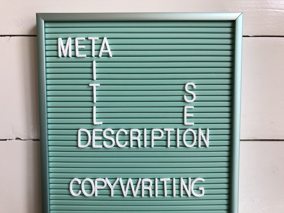 Meta title copywriting optimalisatie