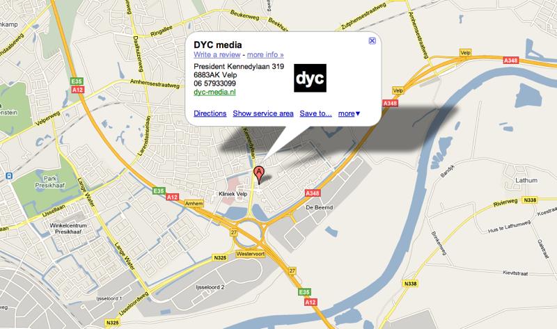 Google Places: zorg dat je in de buurt van je klant bent!