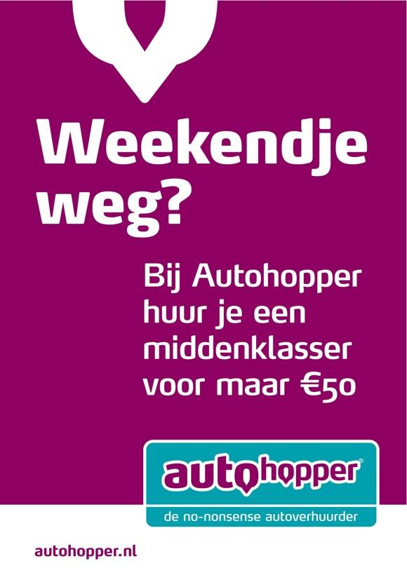 Autohopper autoverhuur poster