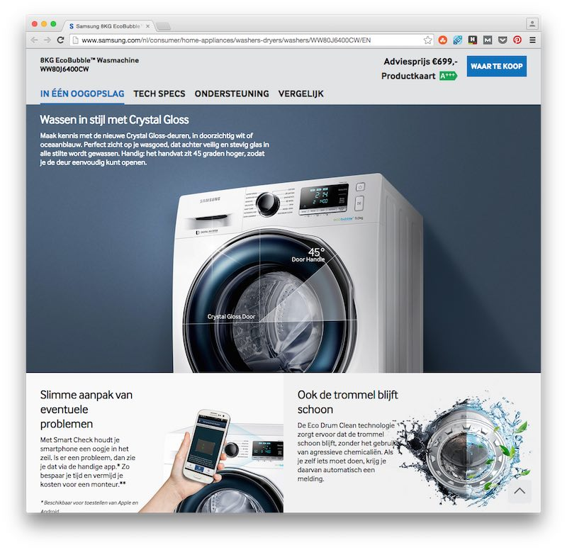 Webcopy voor Samsung