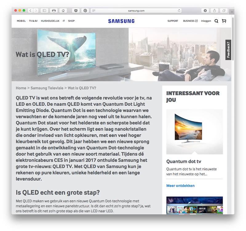 SEO-teksten voor Samsung