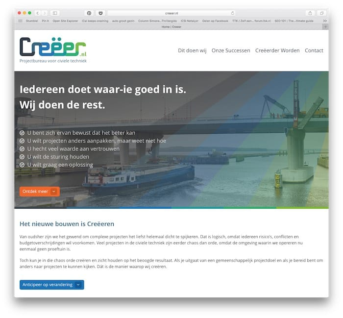 Een website voor Creëer