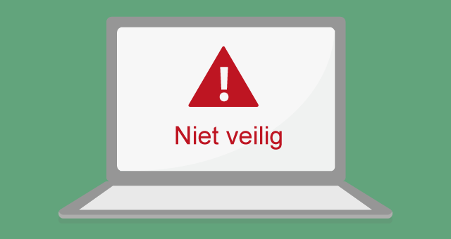 De melding 'Niet veilig' in Google Chrome wil je liever niet in 2017