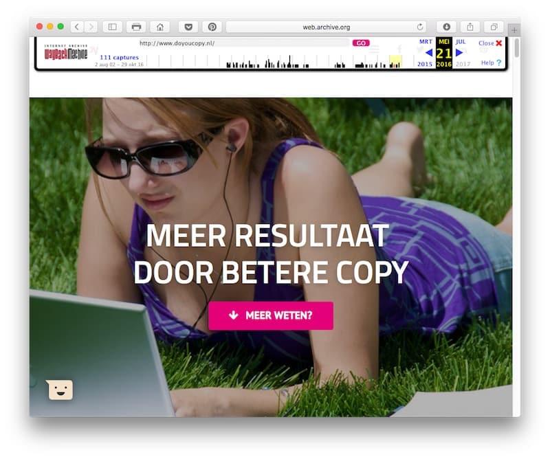 In het voorjaar van 2016 kreeg doyoucopy.nl het huidige design