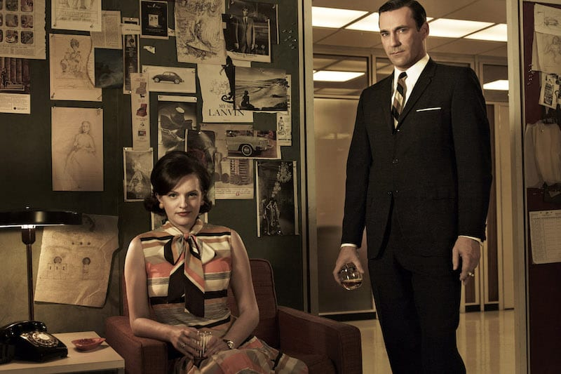 Don Draper en Peggy Olson zijn copywriters