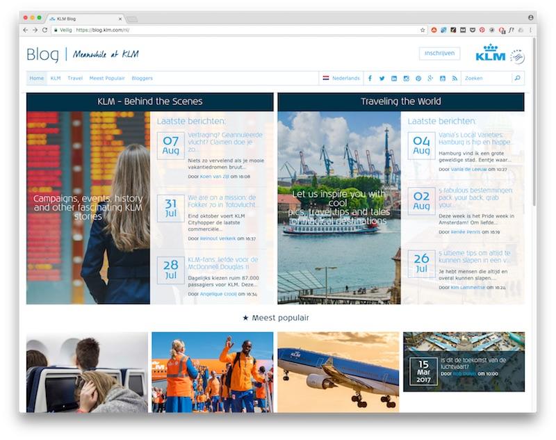 Schoolvoorbeeld van een goed blog: KLM Blog