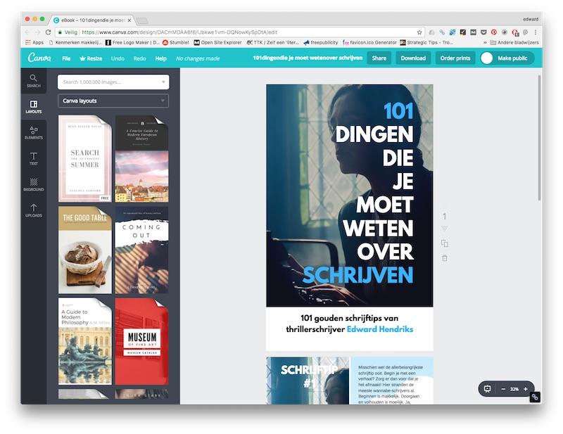 boekomslag ontwerpen met canva