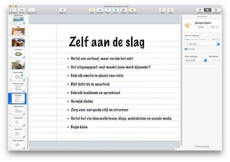 e-book maken met powerpoint of keynote
