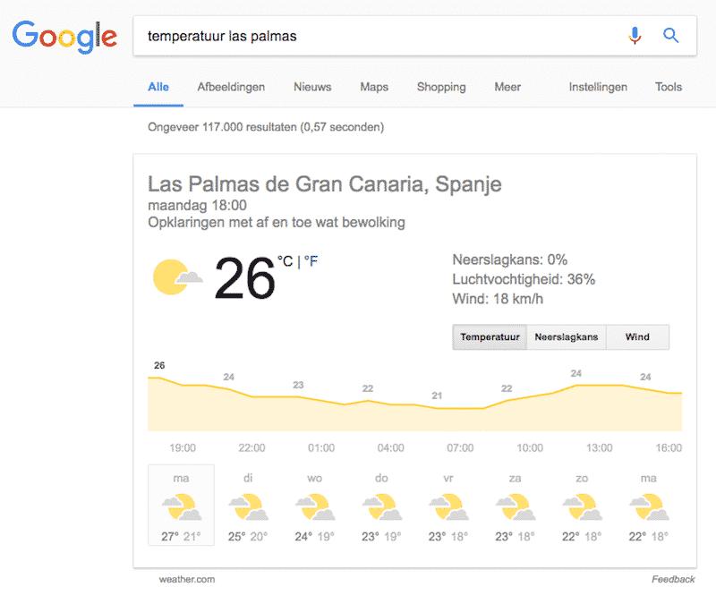 We zijn inmiddels al gewend aan de 'rich answers' van Google