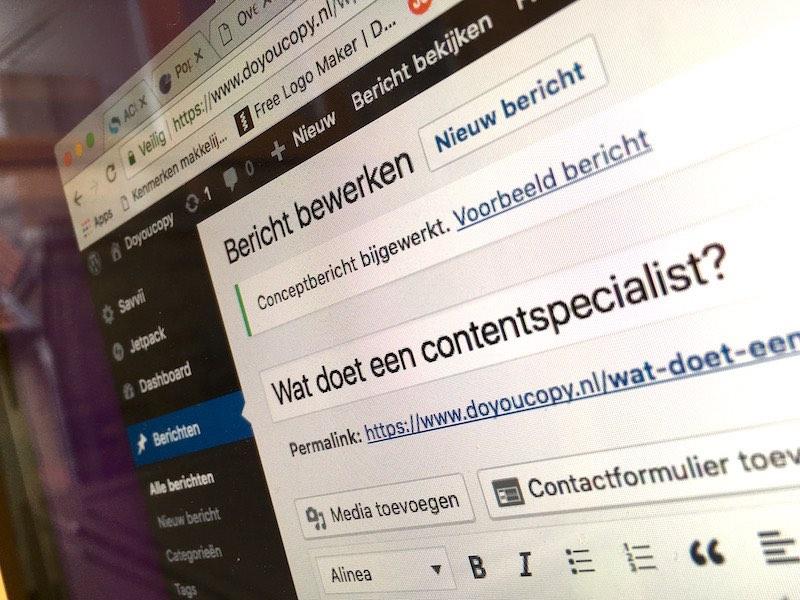 Wat doet een contentspecialist?