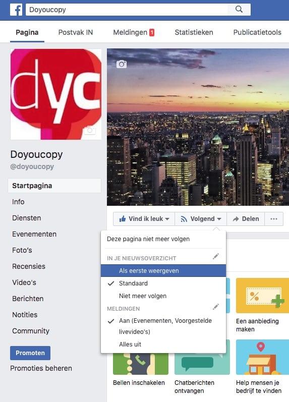 Facebook: als eerste in het nieuwsoverzicht
