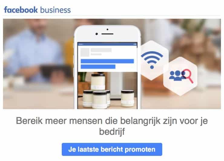 Facebook wil graag dat je betaalt om je bereik te vergroten