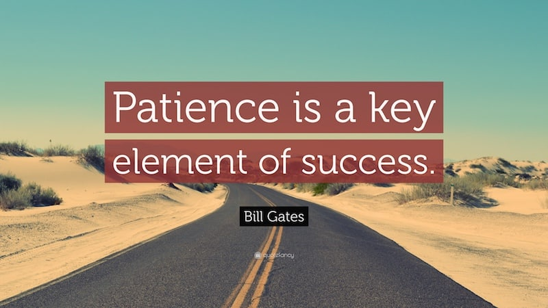 Geduld bij passief inkomen opbouwen