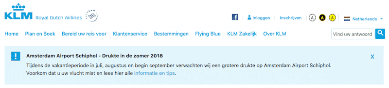 KLM vousvoyeert in eerste instantie