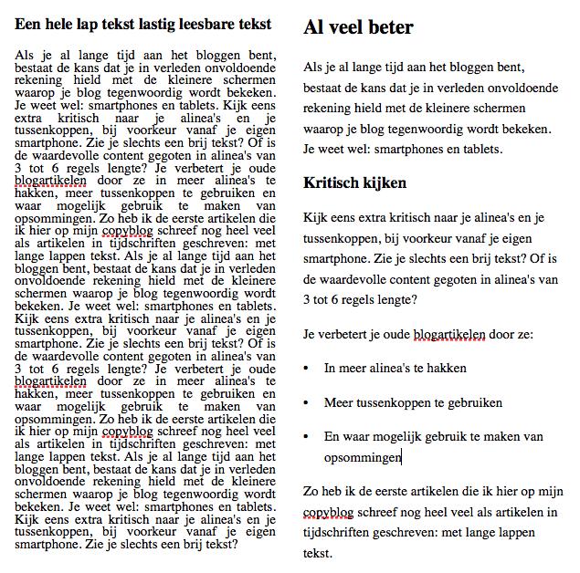Verbeter oude blogs door ze beter leesbaar te maken
