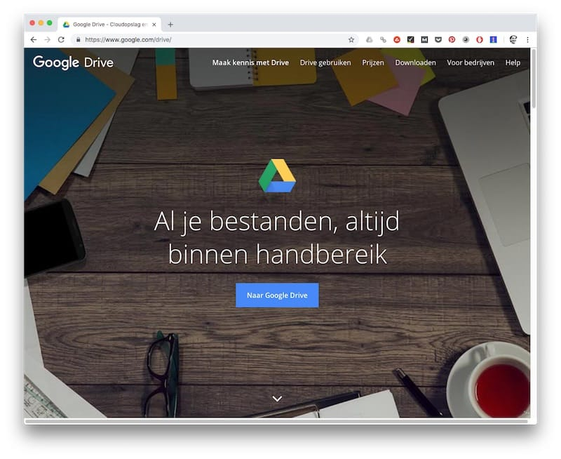 Google Drive - tools voor copywriters