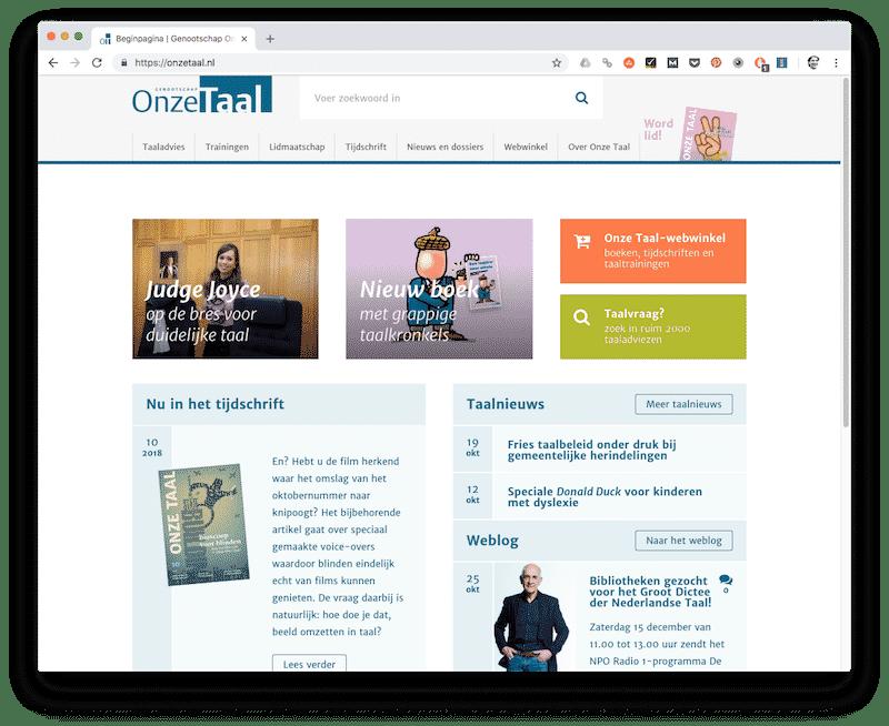 Onze Taal - tools voor copywriters