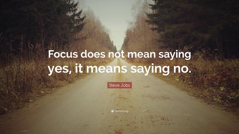 Focus volgens Steve Jobs