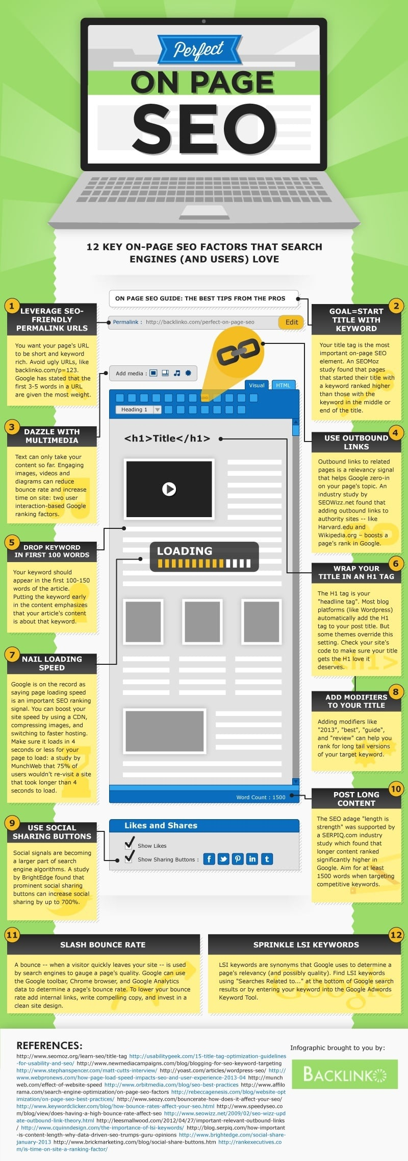 Infographic met SEO-tips