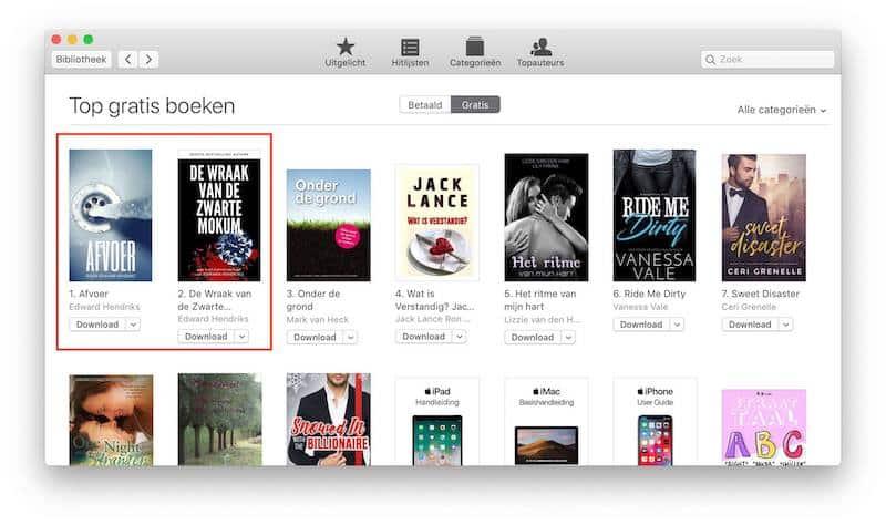 Edward Hendriks in de hitlijst van gratis e-books