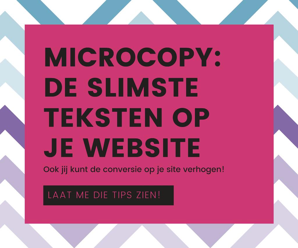 Microcopy: de slimste teksten op je website
