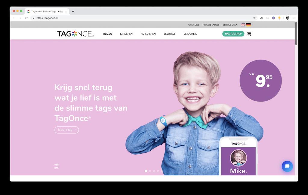 Propositie en webteksten Tagonce