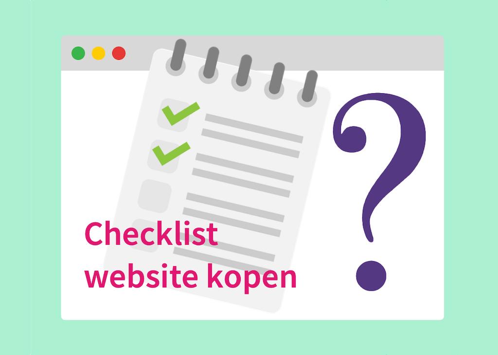 Checklist website kopen
