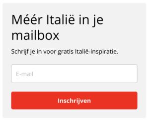 call-to-action voorbeeld ditisitalie.nl